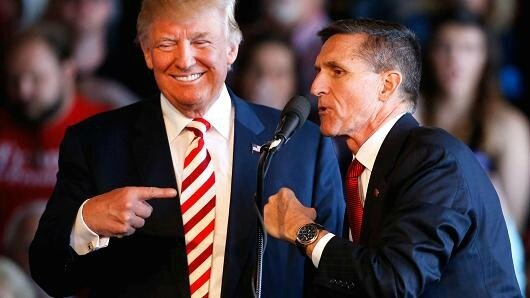 Donald Trump with Michael Flynn campaign
