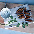 Potatoes maison, sauce yaourt & coriandre
