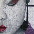 Geisha au kimono violet