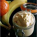 Glace express au yaourt, mandarine & banane (sans sorbetière)