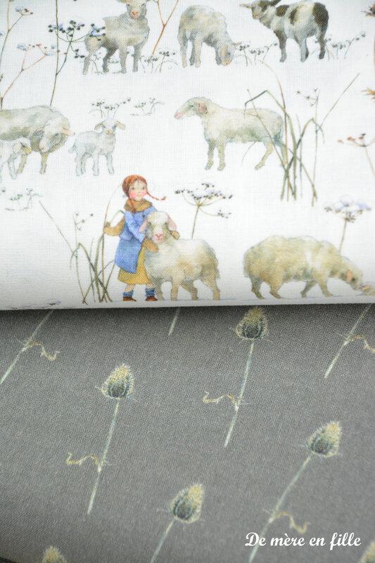 enfants d'hiver et moutons 4