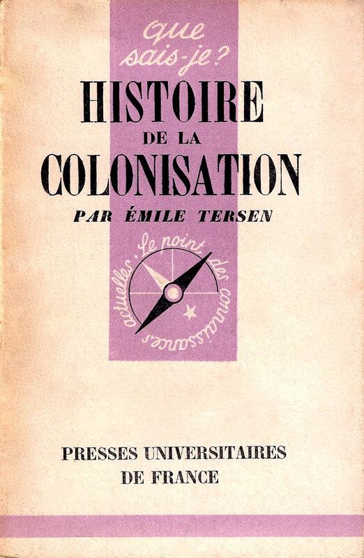 Tersen, Histoire colonisation française, couv