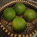 Citrons verts confits