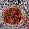 Salade d'orange - sauce moutarde au cassis
