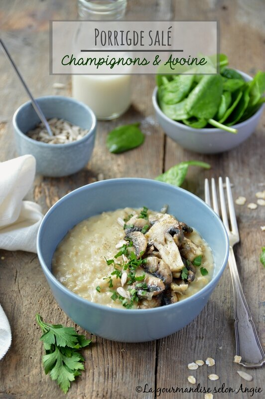 porridge champignons vegan avoine 1