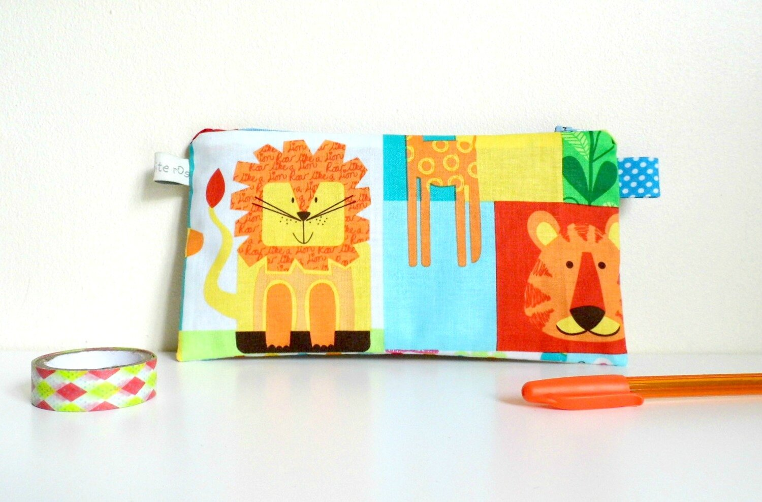 trousse d'école jungle lion tigre
