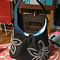 Un sac noir et blanc