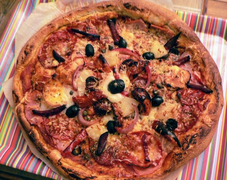 Pizza levain fermentescible