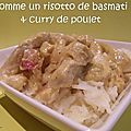 Comme un risotto de basmati & curry de poulet