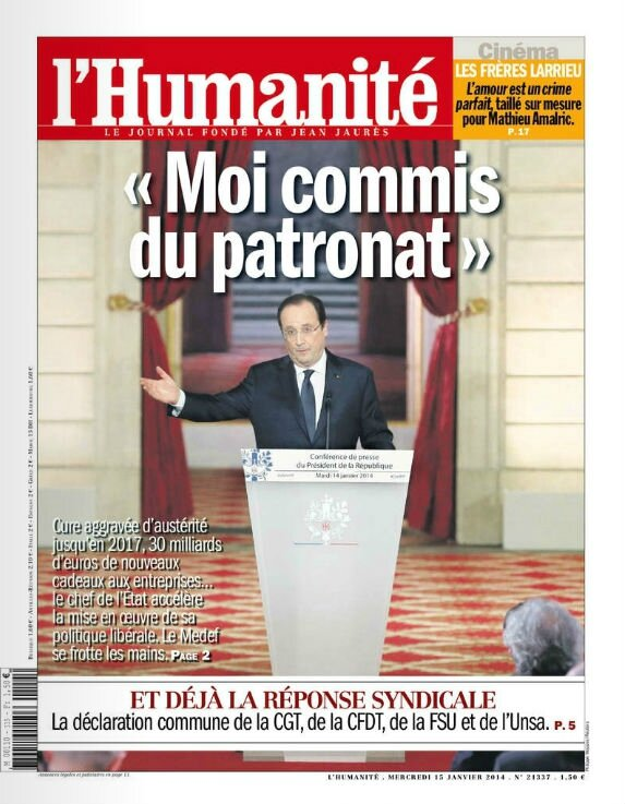 Hollande commis du patronat