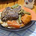 Couscous à l'agneau- fèves fraîches et légumes