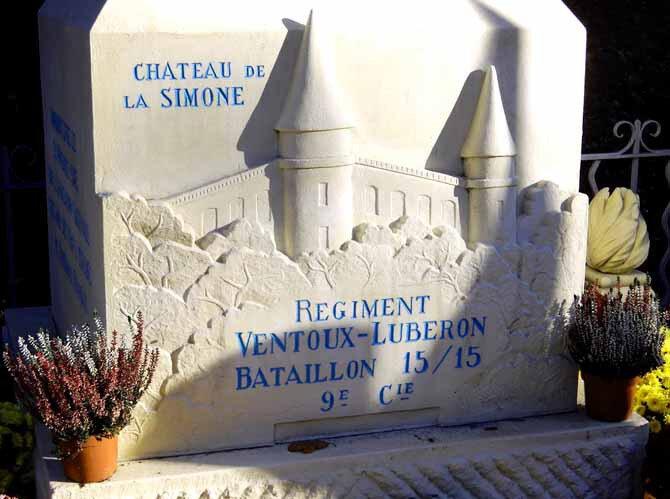 Dimanche 25 novembre 2018 à PERTUIS: cérémonie du Château de la Simone