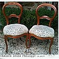 Chaises Louis-Philippe