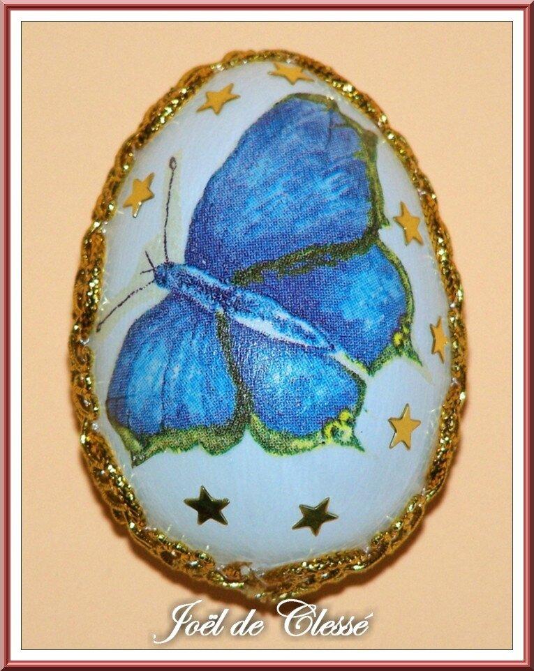 Oeuf Pâques décoré serviettage 5