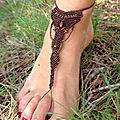 Bijou de pied en macramé