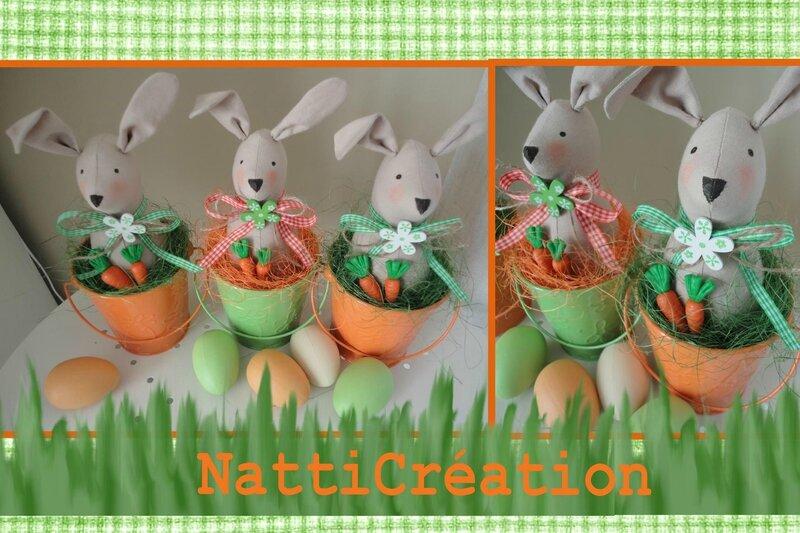 lapins orange vert