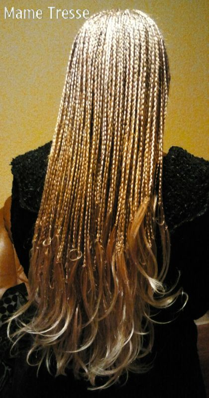 Tresses africaines Rajouts meches blondes