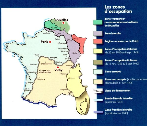 Les zones d'occupation