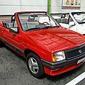 Opel corsa a i130 irmscher cabriolet 1983-1988