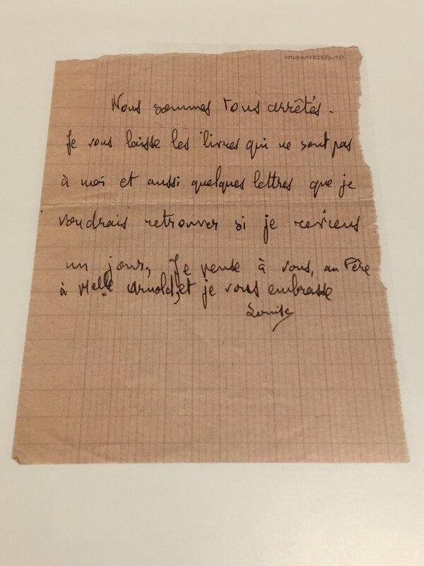 Dernière lettre de Louise
