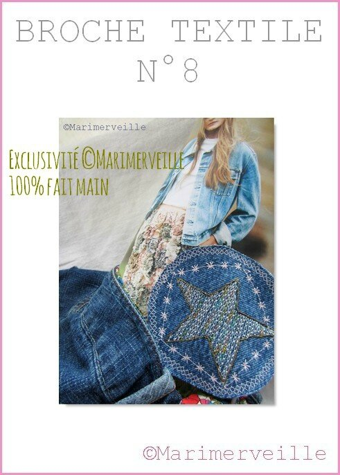 Broche textile 8 Marimerveille