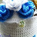 Tea cosy blue flowers 9