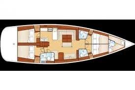 coupe plan d'un océanis yacht 54'