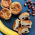 Banana muffins à la vanille, coeur coulant pâte à tartiner - sg