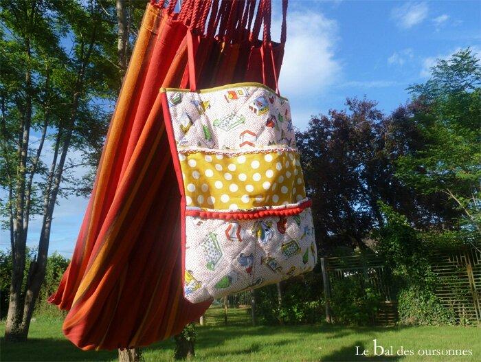108 Blog Couture DIY Hamac Sac Rouge Jaune Vert