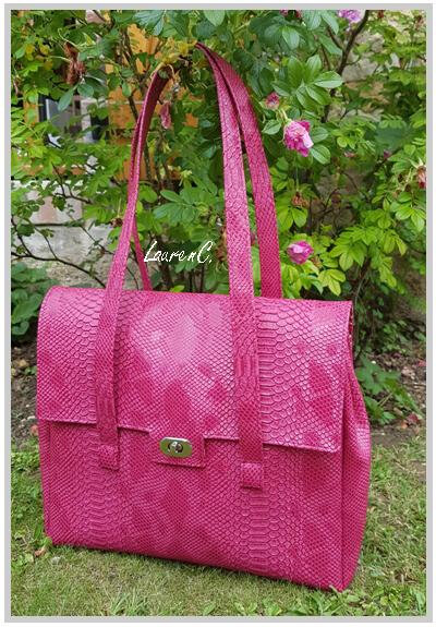 SAC SIMILI DRAGON FRAMBOISE 2018 INTERIEUR LIBERTY