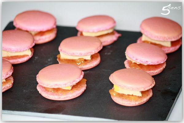 Macarons foie gras chutney2