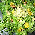 Salade de mâche à la courge butternut et vinaigrette au persil - vegan