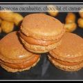 Macarons cacahuètes, chocolat et caramel...