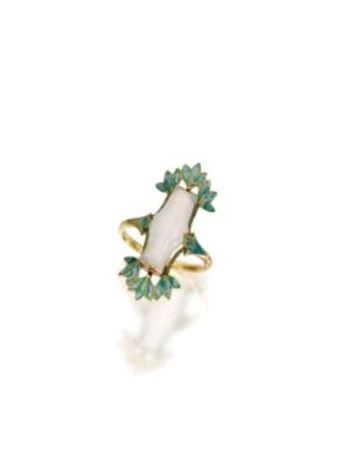 GOLD__OPAL_AND_ENAMEL_RING__GEORGES_FOUQUET__CIRCA_1900_1910