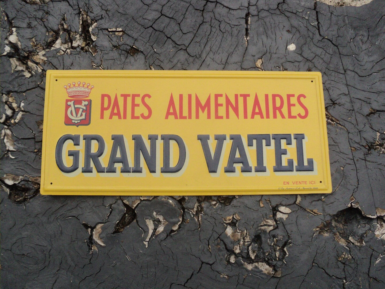 Ancienne tôle litho GRAND VATEL Reclamevoorwerpen