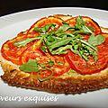 Tartes fines à la tomate