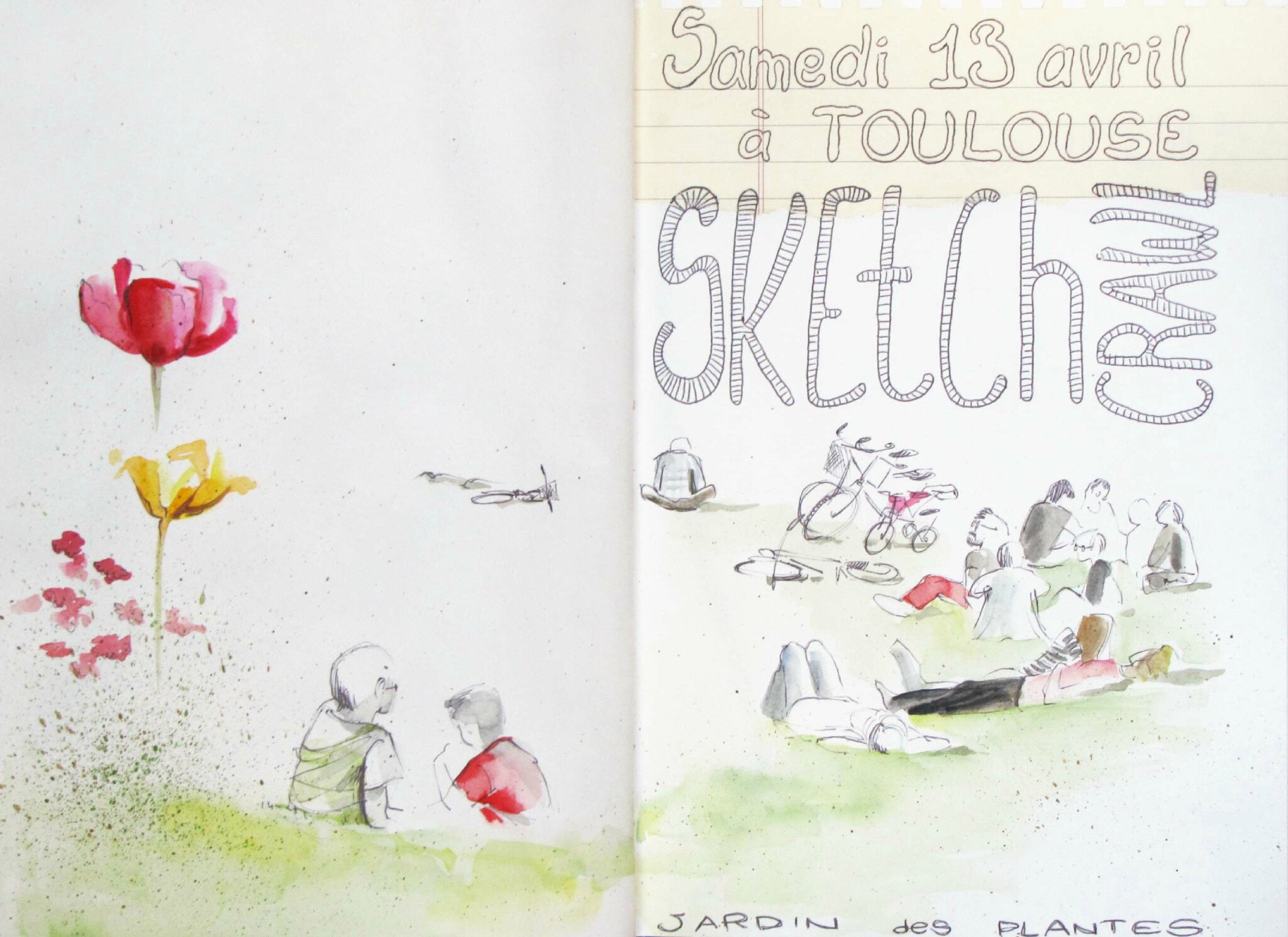 13 avril 2013 : sketchcrawl à Toulouse