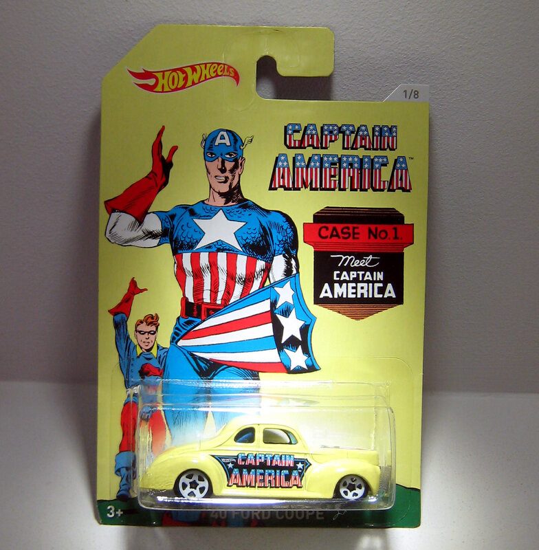 Ford coupe de 1940 serie Captain America(Hotwheels)