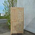Armoire en bois naturel, armoire de type armoire parisienne