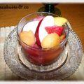 Salade de fruits au vin moelleux