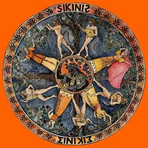 SIKINIS ou La danse des Satyres peinture