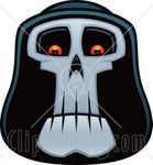 59428_Royalty_Free_RF_Clipart_Illustration_Of_A_Grim_Reaper_Face_With_Glowing_Eyes