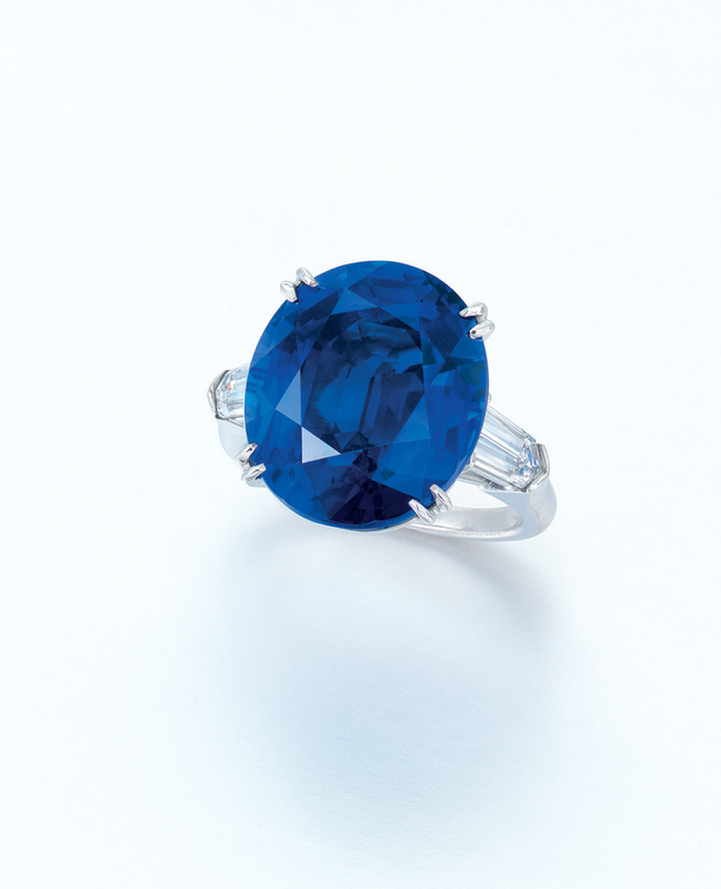 A rare sapphire and diamond ring