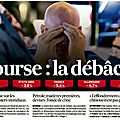Bourse : la débâcle