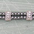 Bracelet double rang hématite