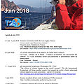 Agenda de la mer : juin 2018 - agenda of the sea : june 2018