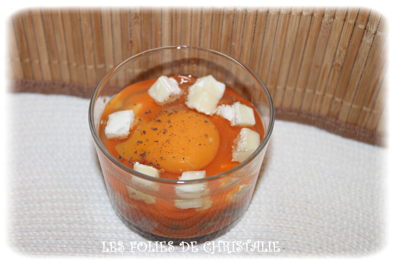 Oeuf cocotte haricots chèvre 5