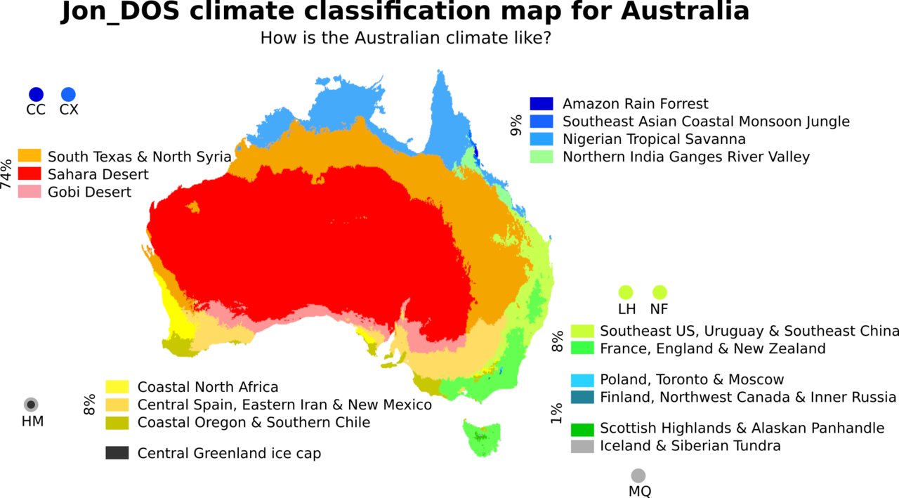 Climate classification map for Australia