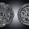 A bronze octalobed mirror, Tang Dynasty (618-907)