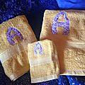 les serviettes de toilette personnalisées de Virginie